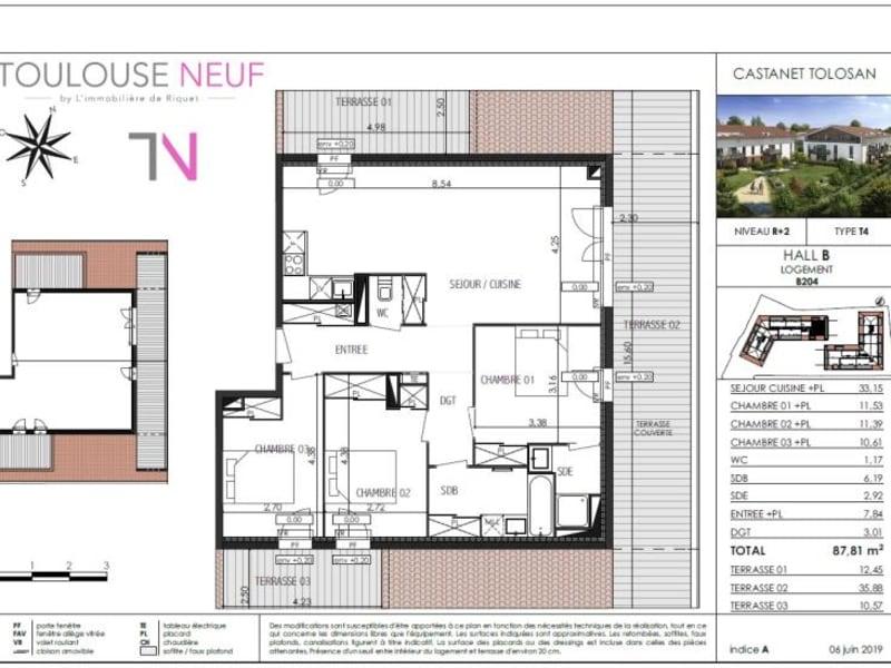 Vente appartement Castanet tolosan 365000€ - Photo 4