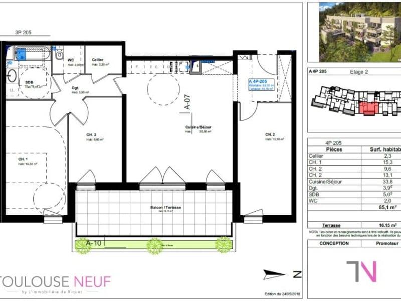 Vente appartement Toulouse 406000€ - Photo 4