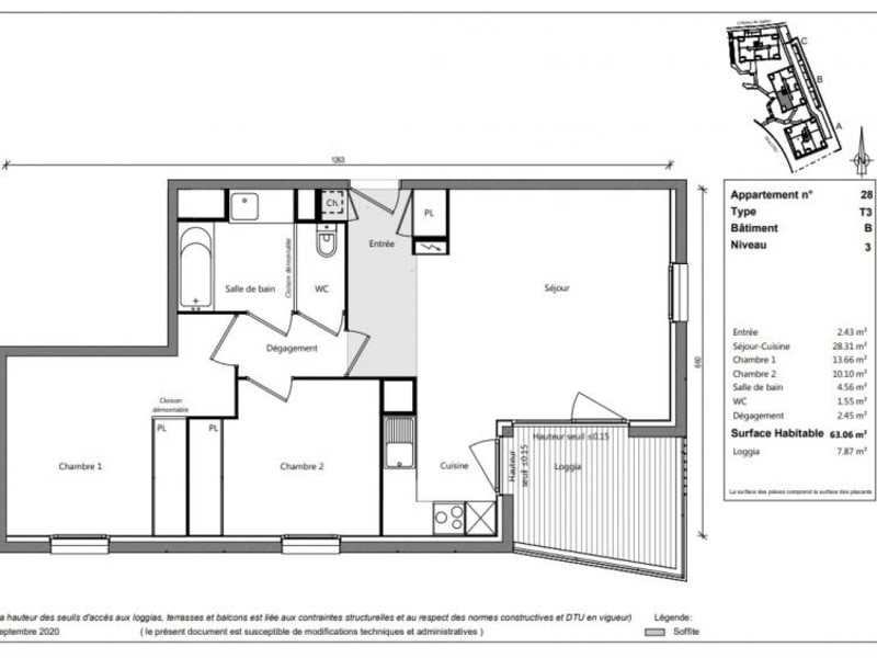 Vente appartement Toulouse 218900€ - Photo 2