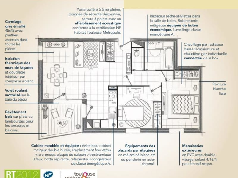 Vente appartement Toulouse 218900€ - Photo 3