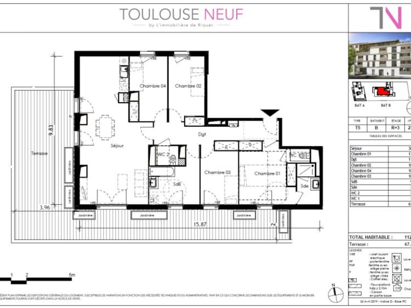 Vente appartement Toulouse 739000€ - Photo 6