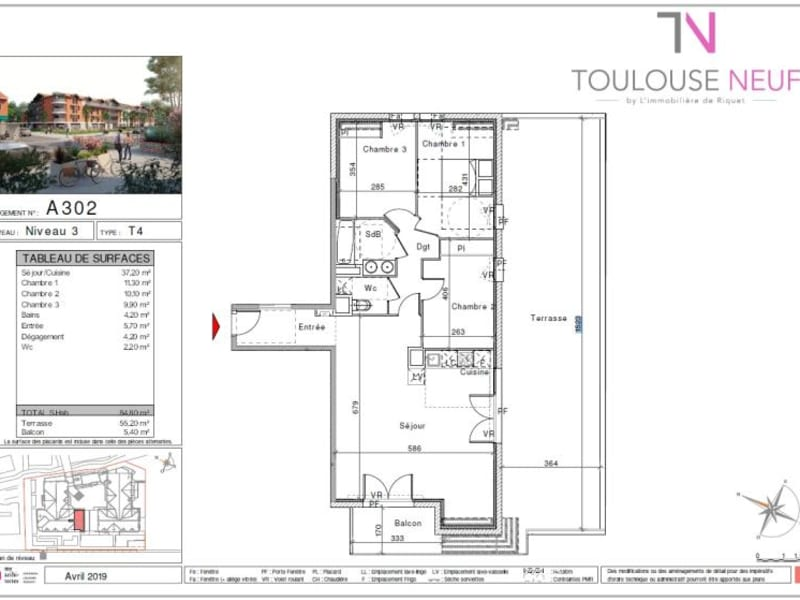 Vente appartement Saint orens de gameville 375500€ - Photo 5
