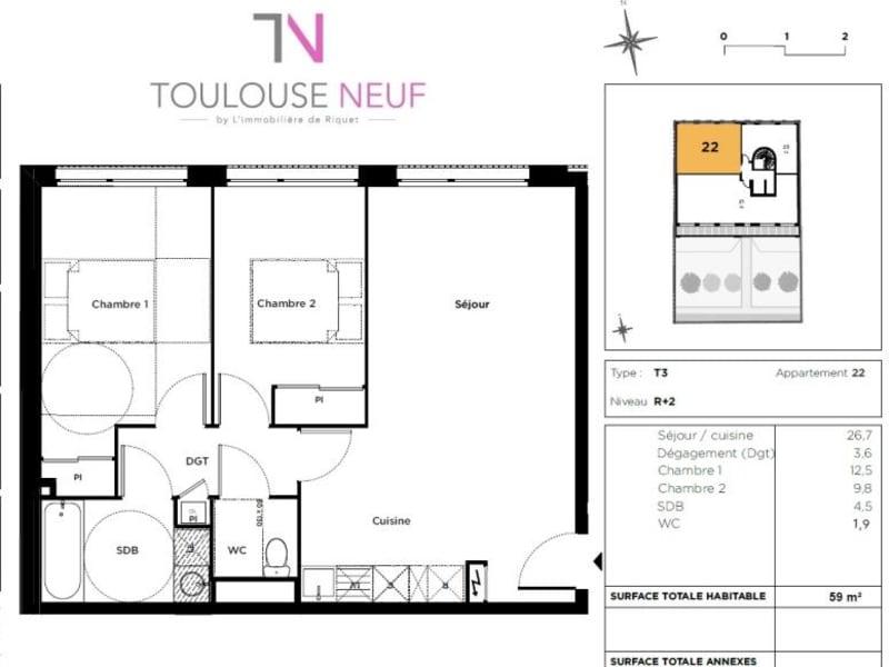 Vente appartement Toulouse 380000€ - Photo 9