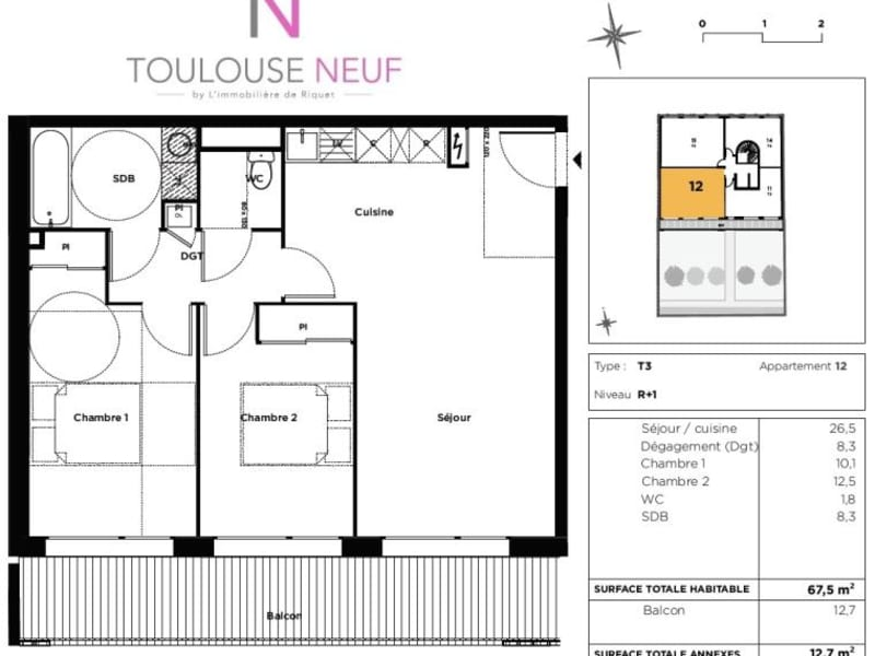 Vente appartement Toulouse 380000€ - Photo 10