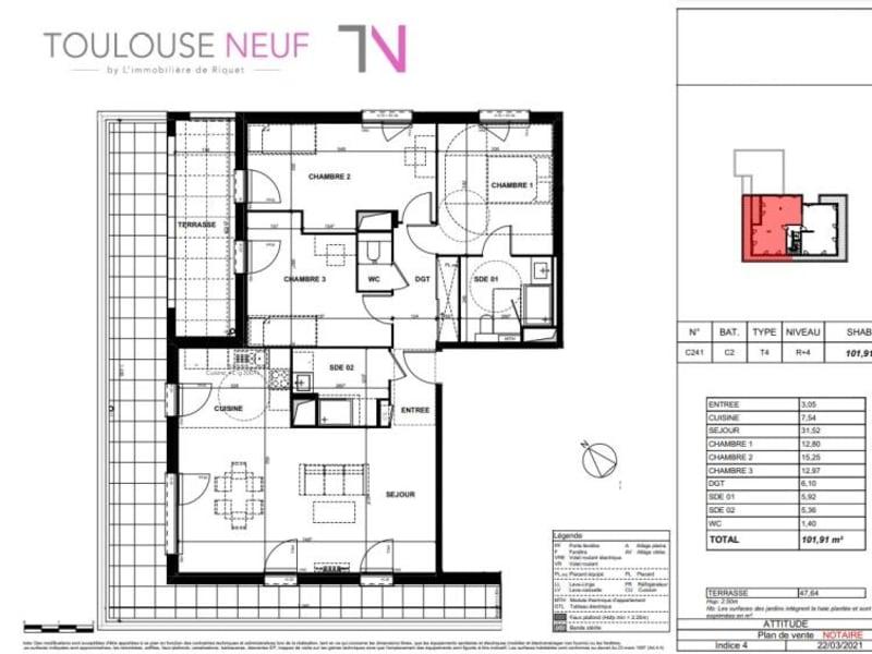 Vente appartement Toulouse 431000€ - Photo 7