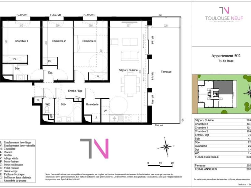 Vente appartement Toulouse 452000€ - Photo 7