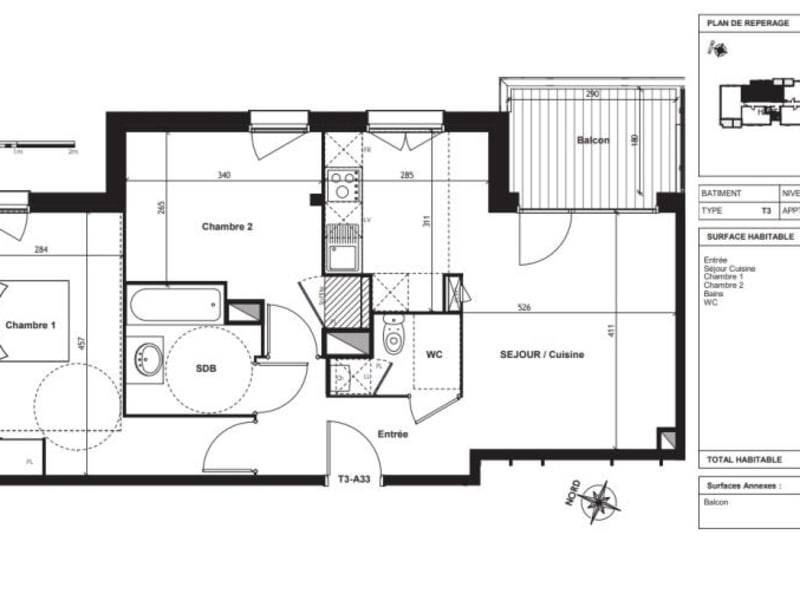 Vente appartement Toulouse 298000€ - Photo 9
