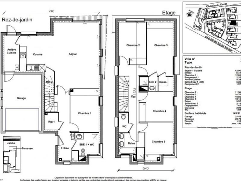 Vente maison / villa Auzeville tolosane 559900€ - Photo 9