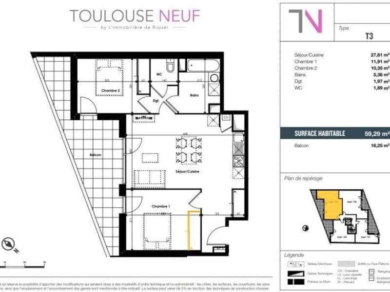 Vente appartement Toulouse 266000€ - Photo 9