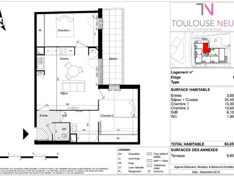 Vente appartement Toulouse 282000€ - Photo 6