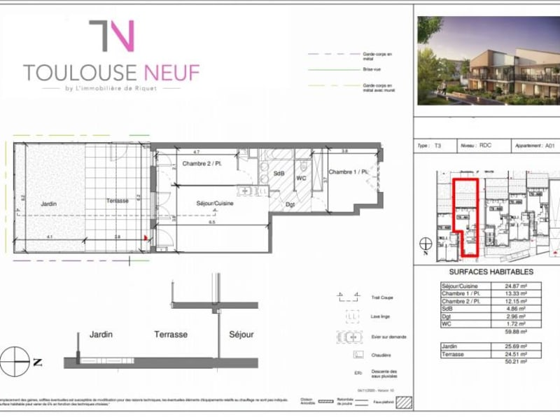 Vente appartement Toulouse 345000€ - Photo 4