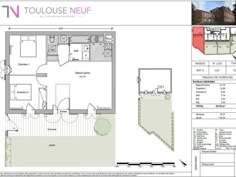 Vente appartement Pin balma 273000€ - Photo 7