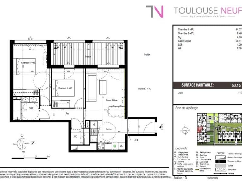 Vente appartement Toulouse 272000€ - Photo 7