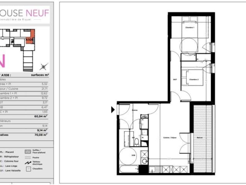 Vente appartement Toulouse 211500€ - Photo 10