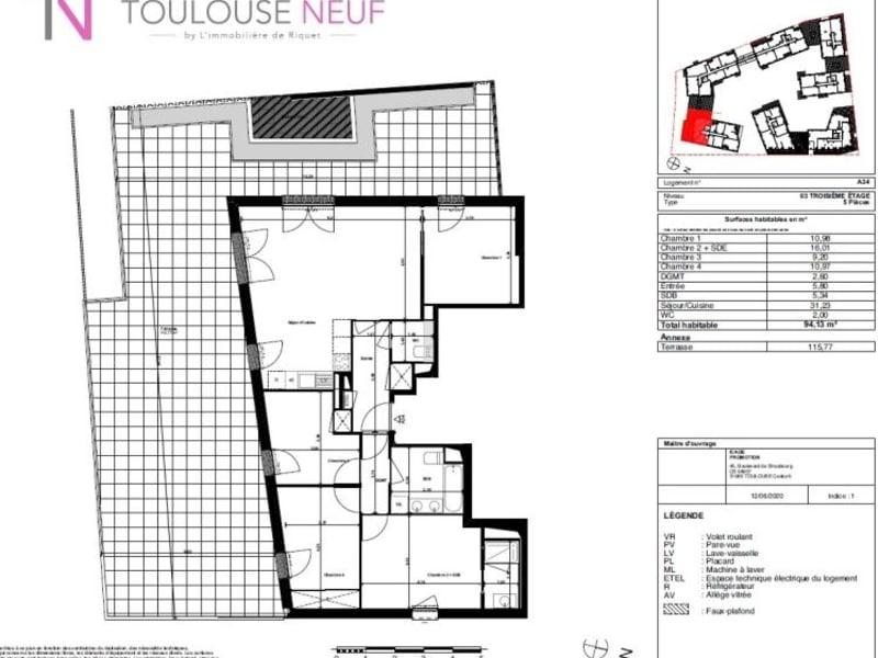 Vente appartement Toulouse 526900€ - Photo 5