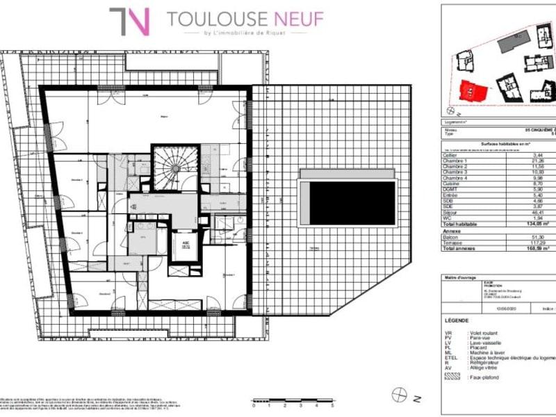 Vente appartement Toulouse 526900€ - Photo 6