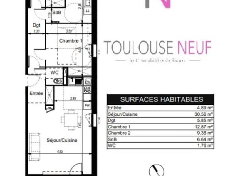 Vente appartement Toulouse 235000€ - Photo 9