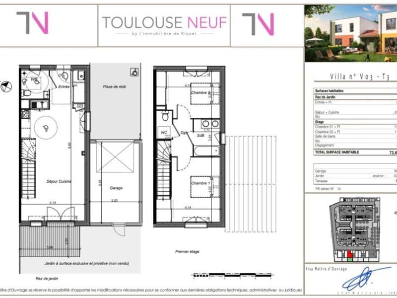 Vente maison / villa Tournefeuille 288000€ - Photo 11