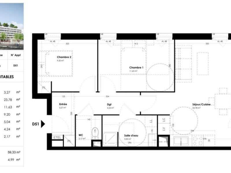 Vente appartement Toulouse 214500€ - Photo 10