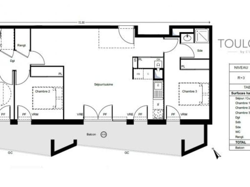 Vente appartement L'union 313000€ - Photo 3