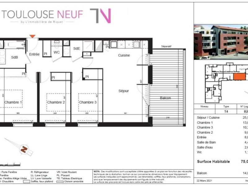Vente appartement Castanet tolosan 308000€ - Photo 7