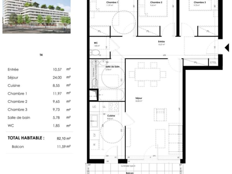 Vente appartement Toulouse 381900€ - Photo 8