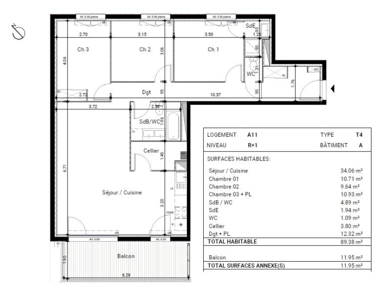 Vente appartement Montrabe 296000€ - Photo 13