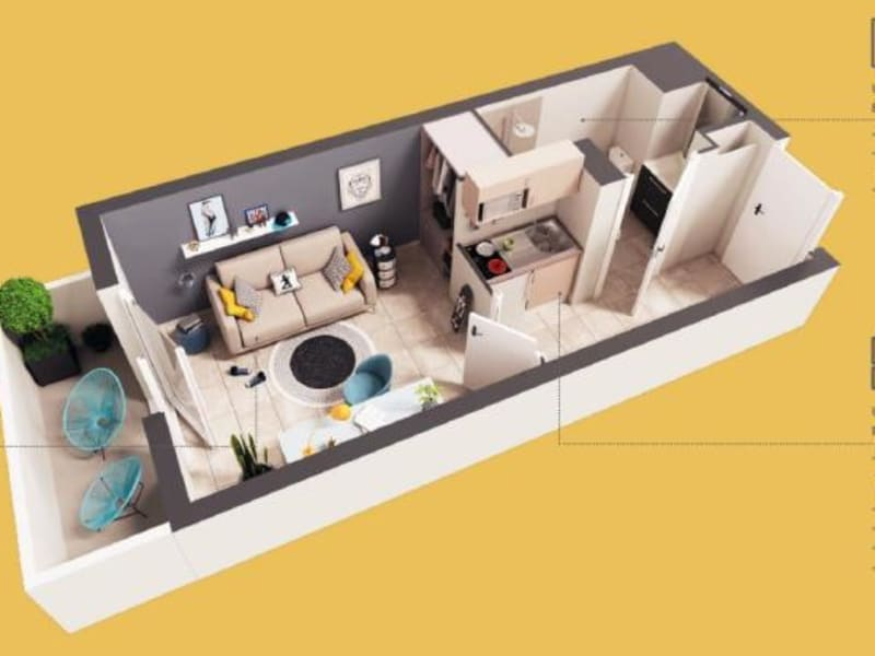 Vente appartement Toulouse 110000€ - Photo 2
