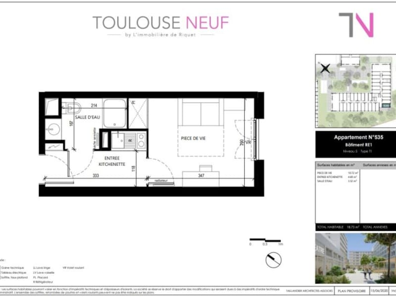 Vente appartement Toulouse 110000€ - Photo 4