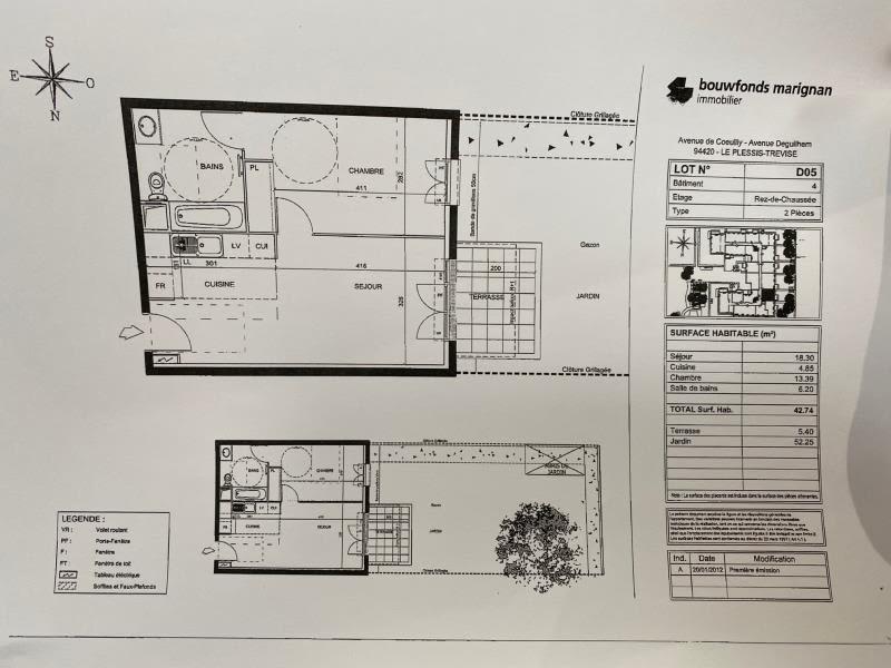 Le Plessis Trevise - 2 pièce(s) - 42.74 m2