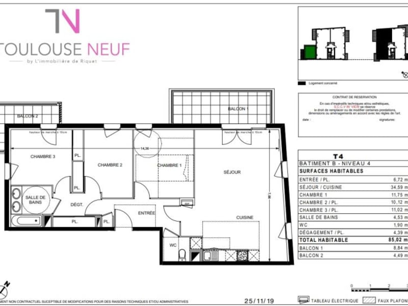 Vente appartement Ramonville 324900€ - Photo 10