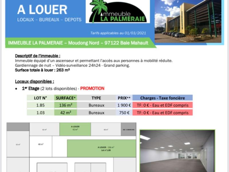 PROMO- BUREAUX A LOUER IMMEUBLE LA PALMERAIE -JARRY