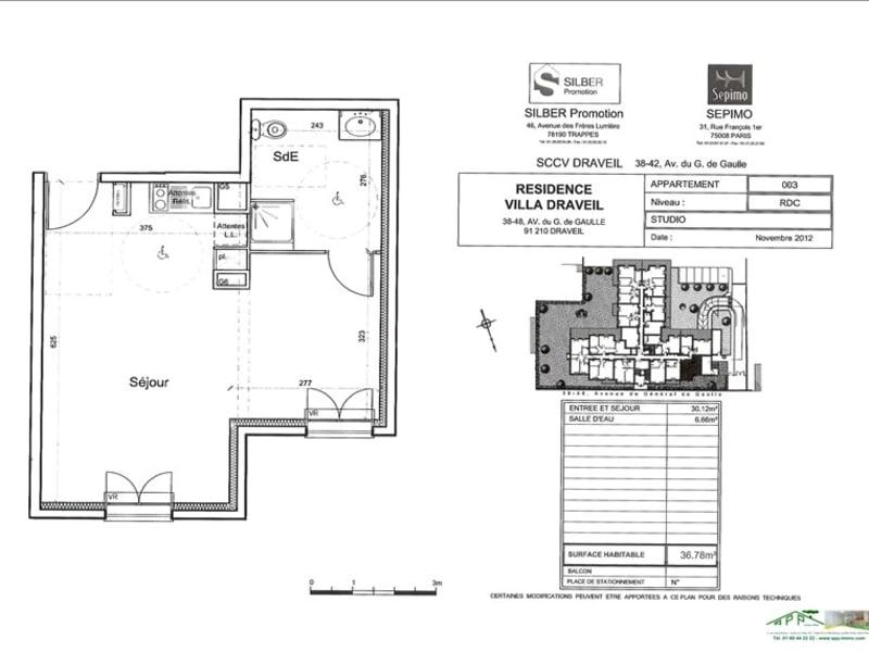 Rental apartment Draveil 662,25€ CC - Picture 2