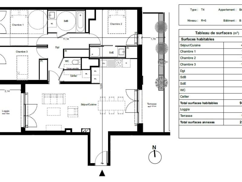 Vente appartement Toulouse 288800€ - Photo 7