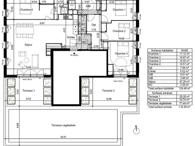 Vente appartement Toulouse 490000€ - Photo 7