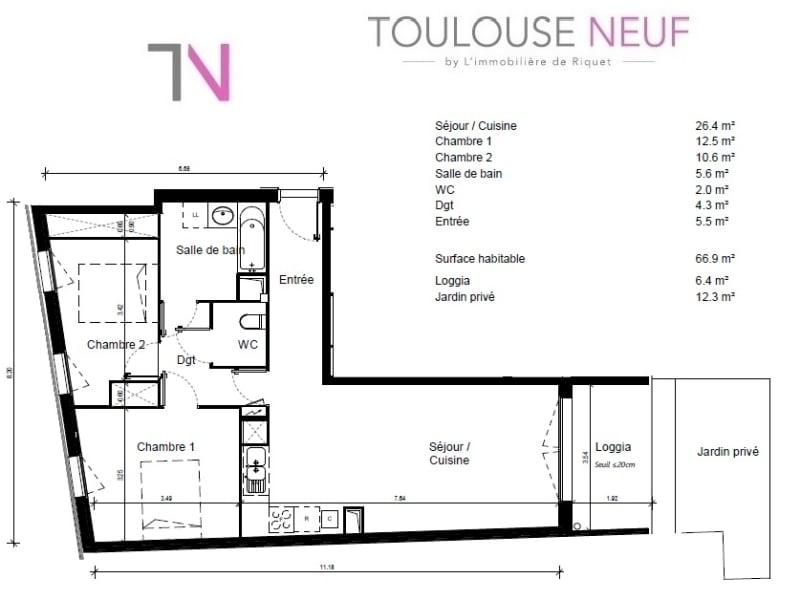 Vente appartement Toulouse 225000€ - Photo 6