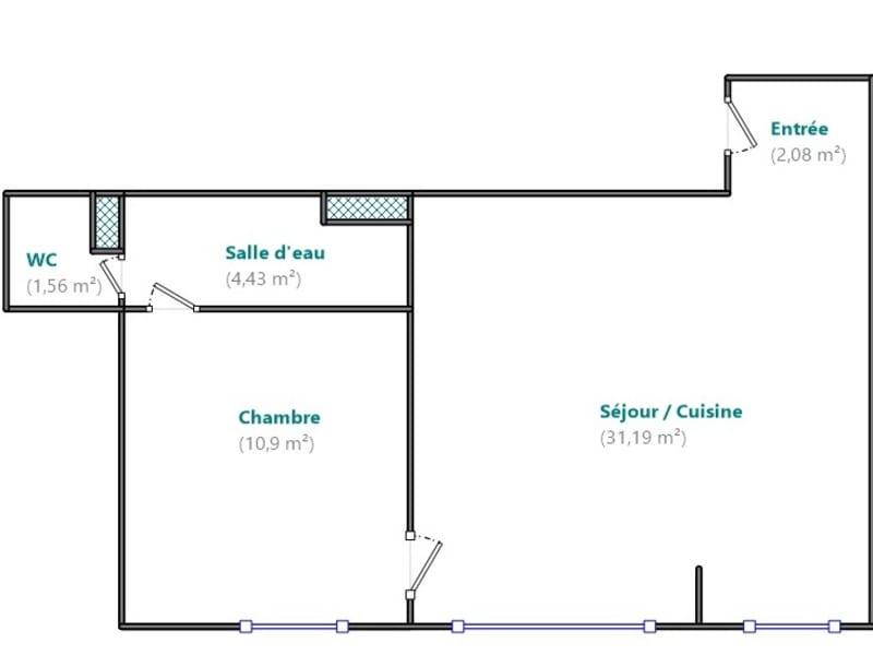 Sale apartment Boulogne billancourt 459000€ - Picture 9