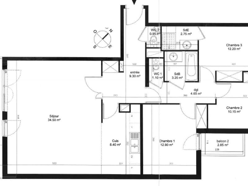 Venta  apartamento Boulogne billancourt 949000€ - Fotografía 14