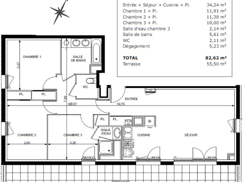 Vente appartement Castanet tolosan 479000€ - Photo 8
