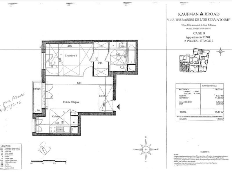 Rental apartment Juvisy sur orge 828€ CC - Picture 2