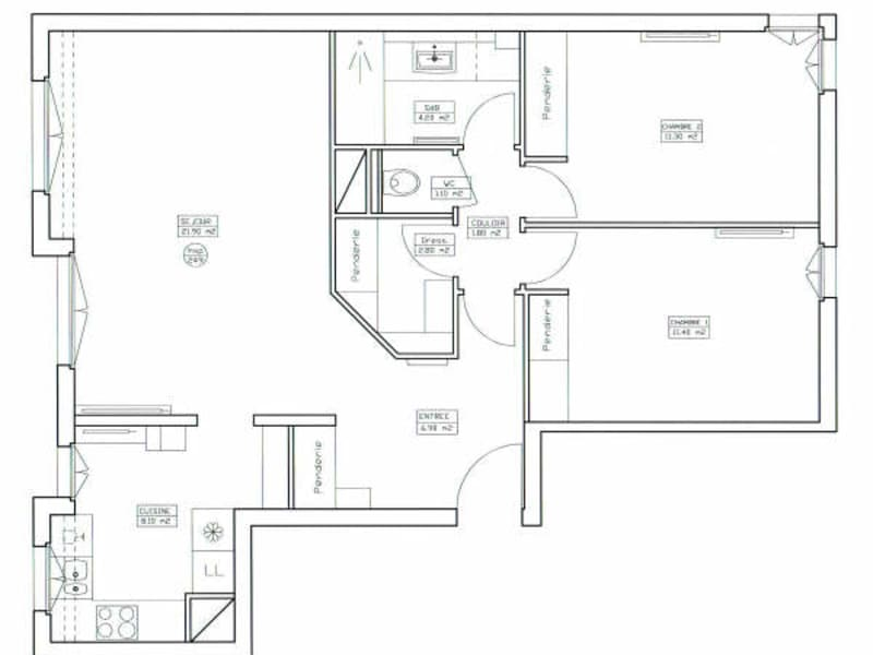 Rental apartment Courbevoie 1606€ CC - Picture 4