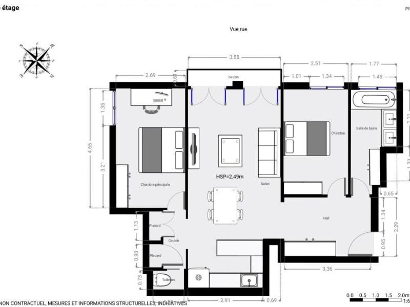 Sale apartment Paris 15ème 810000€ - Picture 9