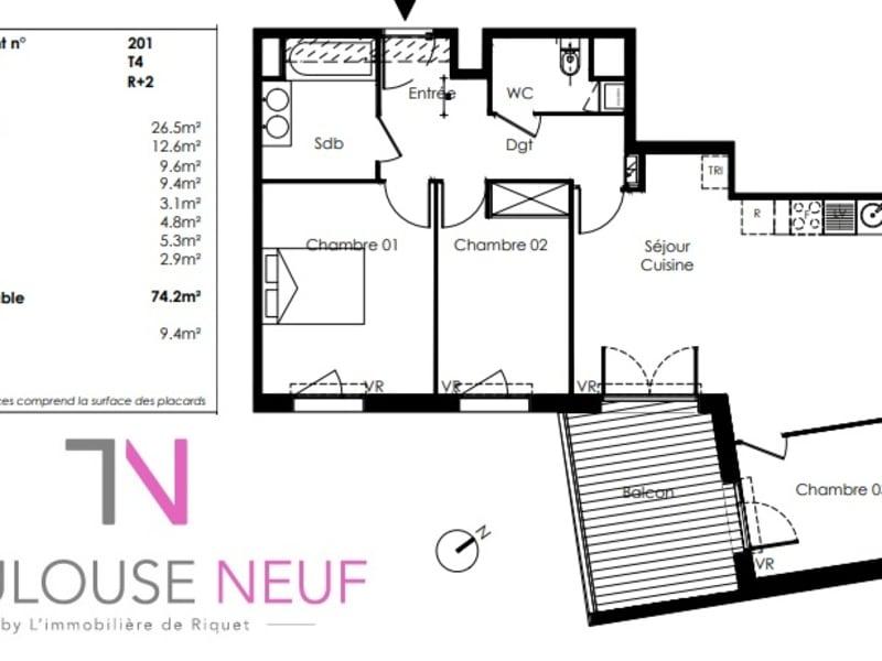 Vente appartement Saint orens de gameville 255000€ - Photo 7