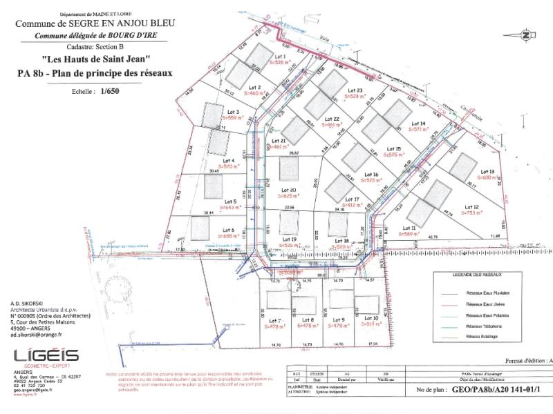 Vente terrain Segre en anjou bleu 45040€ - Photo 3