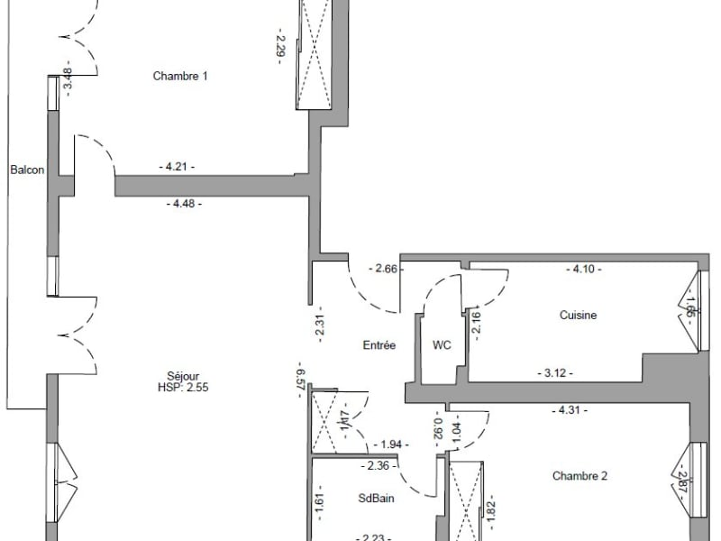 Sale apartment Paris 17ème 835000€ - Picture 1