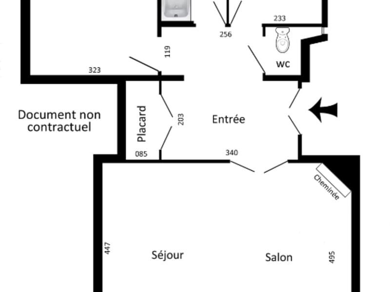 Rental apartment Paris 18ème 1465€ CC - Picture 2
