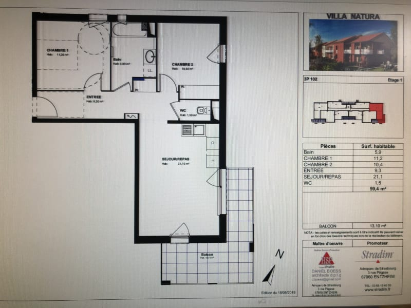 Location appartement Launaguet 714€ CC - Photo 11