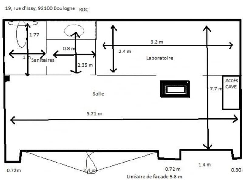 Vente local commercial Boulogne billancourt 350000€ - Photo 8