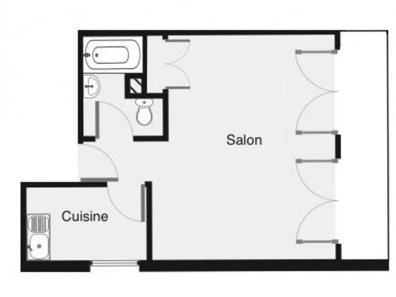 Rental apartment Palaiseau 605€ CC - Picture 1
