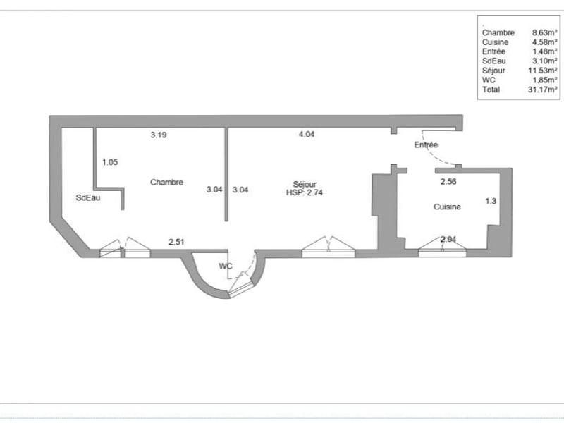 Vente appartement Paris 15ème 347550€ - Photo 2